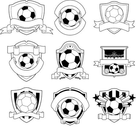Soccer embleem Stock Illustratie