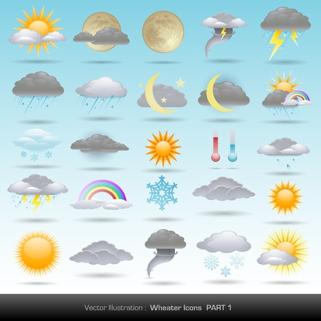 cloudy weather: weather icons collection