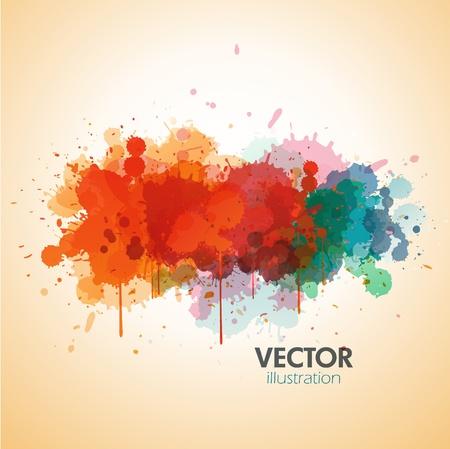 paint drop: paint background design Illustration