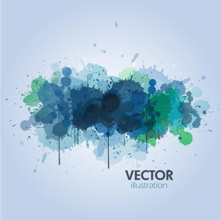 paint drop: blue paint background Illustration
