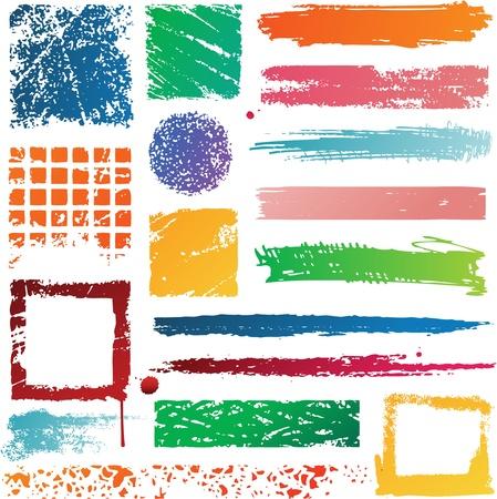 Bannières colorées splat Banque d'images - 8688212
