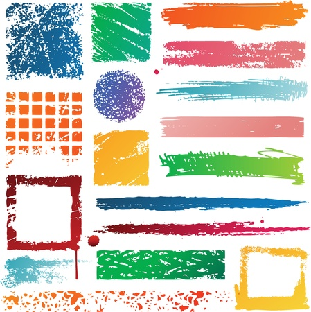 colorful splat banners Stock Vector - 8688212