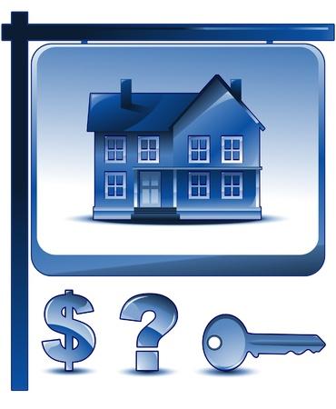 casa: real estate elements Illustration