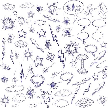 historietas: diseño de caricatura dibujada de mano Vectores