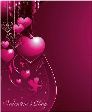 pink valentine background Ilustrace