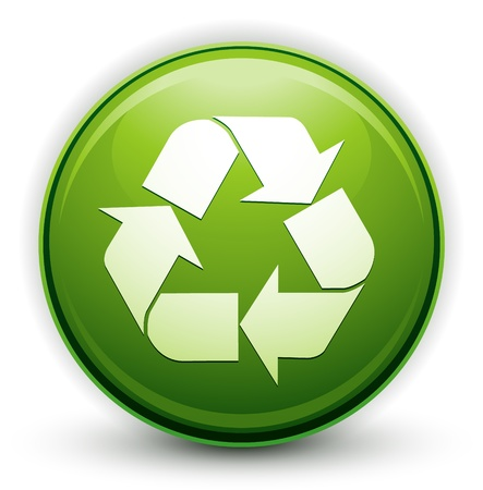 beginnings: glossy recycle icon Illustration