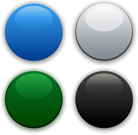 glossy round internet buttons Vector