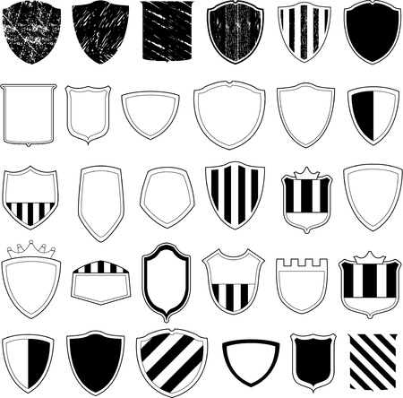 shield design collection Vector