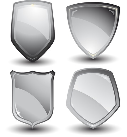 security symbol: metallic shield design Illustration