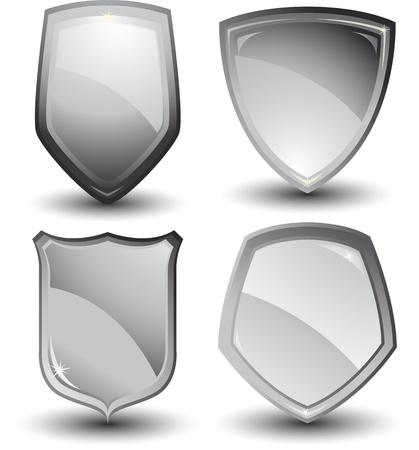 crests: progettazione di scudo metallico Vettoriali