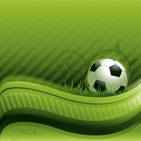 soccer background: green soccer background