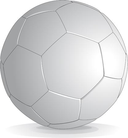 white soccer ball Vector