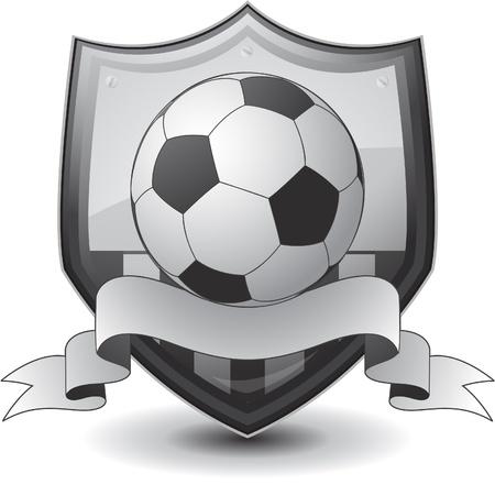 schild voetbal embleem Stock Illustratie