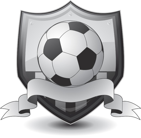 white coat: shield soccer emblem