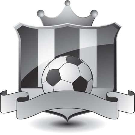 soccer emblem crown 일러스트