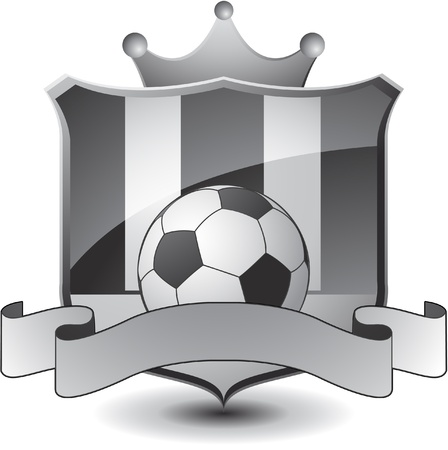white coat: soccer emblem crown Illustration