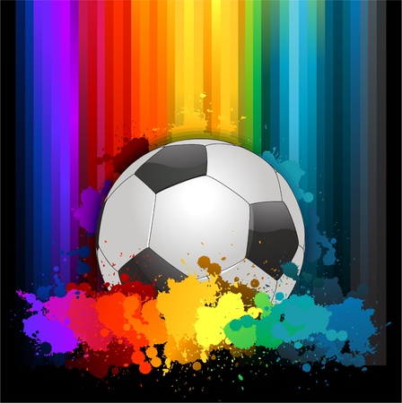 colorful soccer background Illustration
