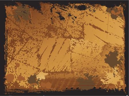 graffiti brown: textura de tinci�n grunge Vectores