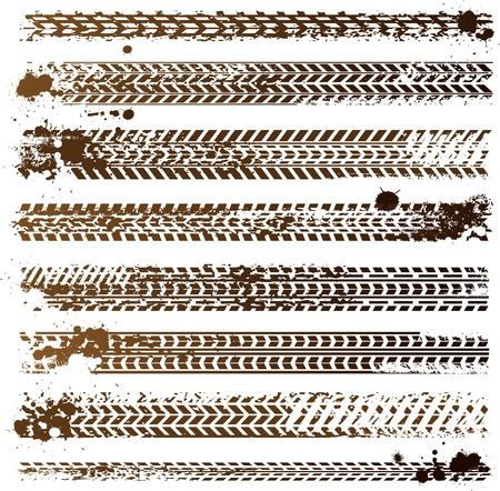 huellas de neumaticos: pistas de neum�tico sucio