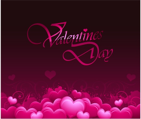 pink valentines day background Vector