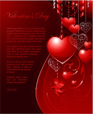 valentine's day background Stock Vector - 8683276