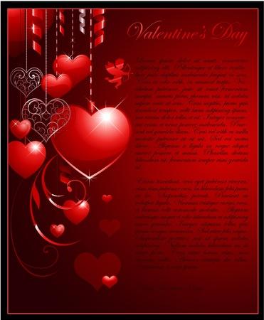 valentine background Illustration