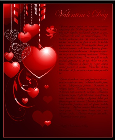 background: valentine background Illustration