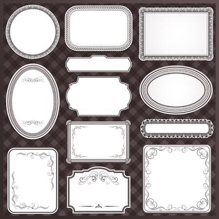 書道のデザイン要素と証明書の装飾