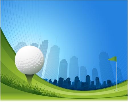 抽象的なゴルフのデザインの背景  イラスト・ベクター素材