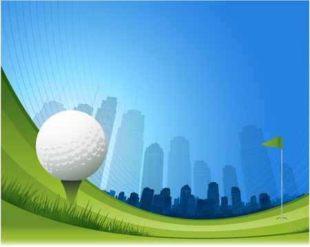 flyer background: abstract golf design background