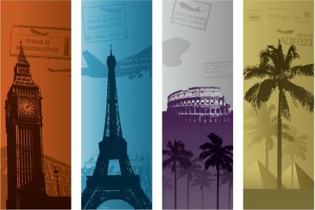 여행 유럽 휴가 개념