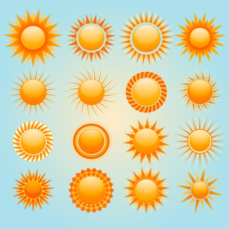 Sun icons Stock Vector - 8978439