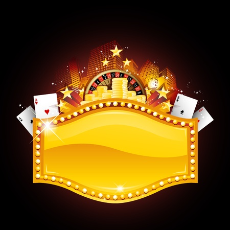 Casino placard Illustration