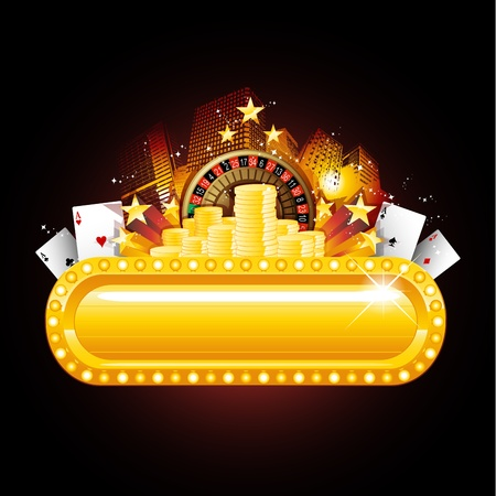ruleta de casino: Signo de Casino Vectores