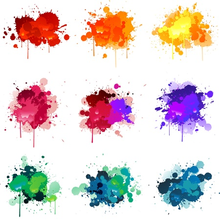 messy paint: Paint splats Illustration