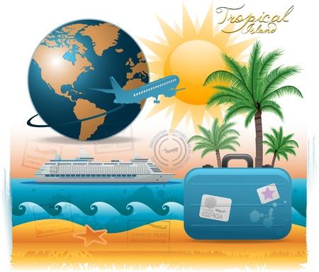 Arrière-plan de voyage. Banque d'images - 9477444
