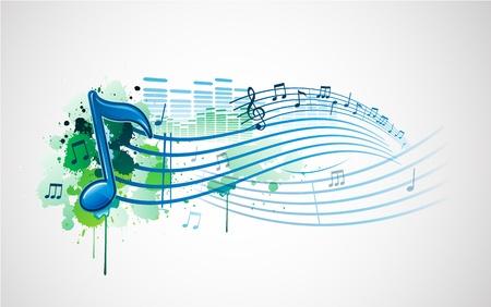 muziek Opmerking achtergrond Stock Illustratie
