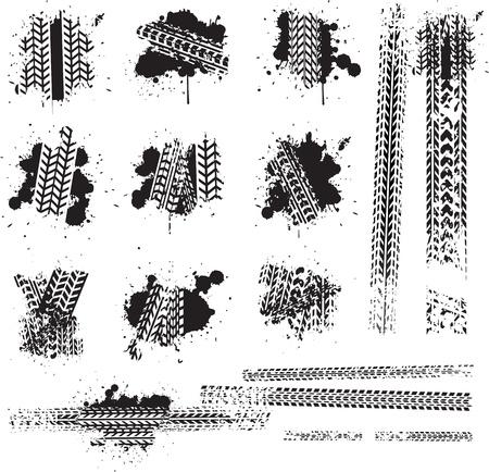moto da cross: tracce di pneumatici