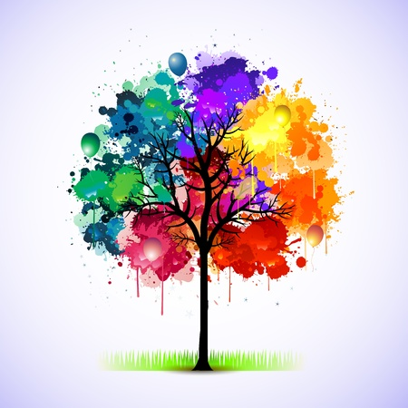 grunge: Paint splat tree