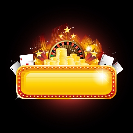 Casino banner sign Stock Vector - 9934558