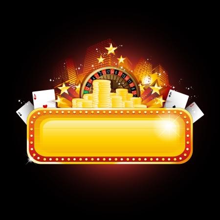 fichas casino: Signo de banner Casino