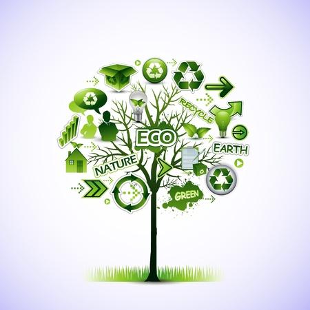 Eco boom Stock Illustratie