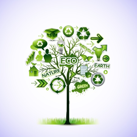 green environment: Eco tree
