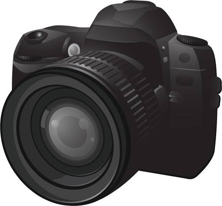 digital camera: Camera illustration Illustration