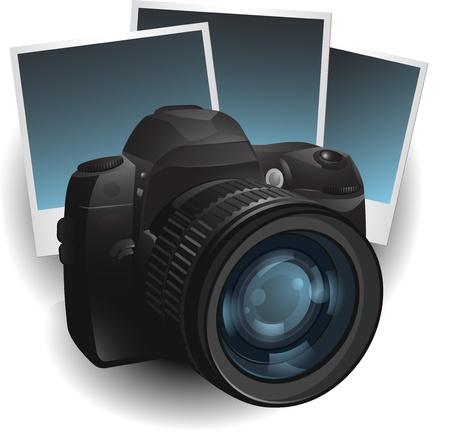 fotografi: Illustrazione della fotocamera