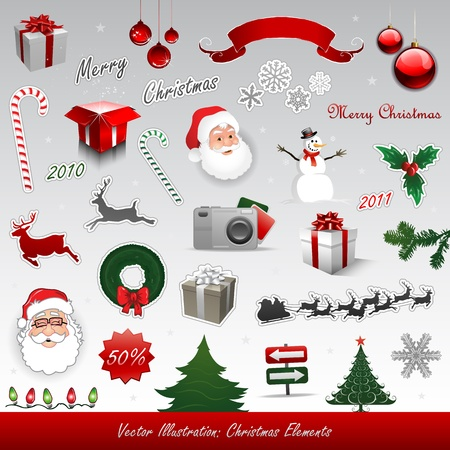christmas reindeer: Christmas design elements