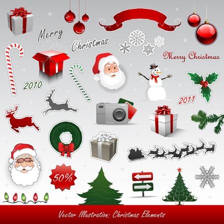 renos de navidad: Navidad elementos de diseño
