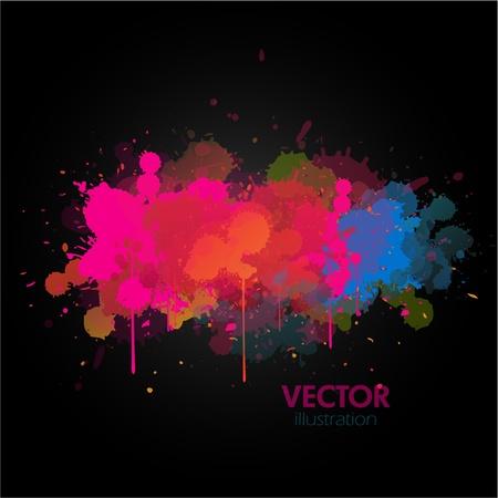 invitation party: Colorful paint splat