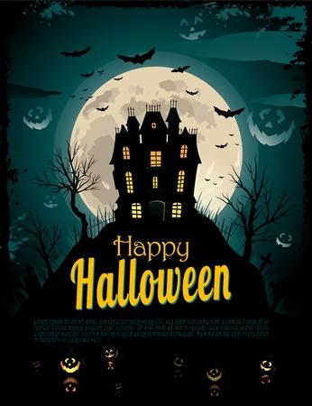 halloween party: Halloween achtergrond Stock Illustratie