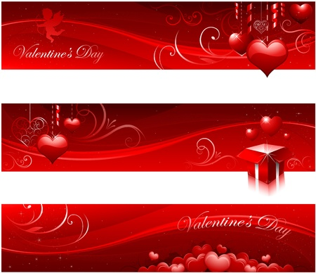 Valentine's day banners Stock Vector - 11824346